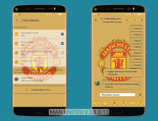 BBM MOD Manchester United (MU) v3.1.0.13 APK Terbaru