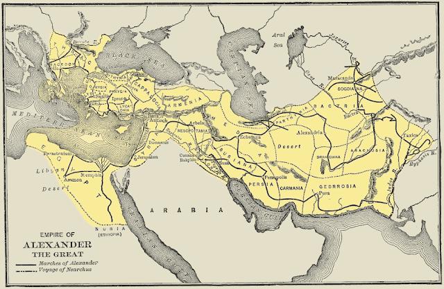 İskender İmparatorluğunun Sınırları