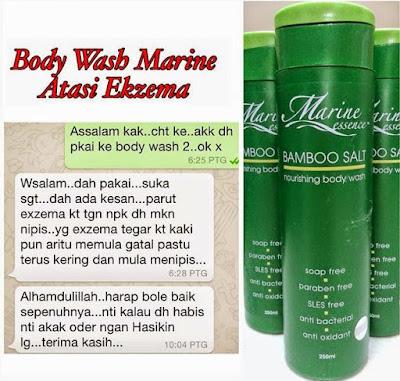 Ikhtiar Ekzema dengan Garam Buluh Body Wash Marine Essence