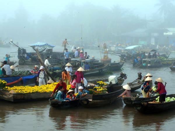 Mercados flotantes del Delta del Mekong