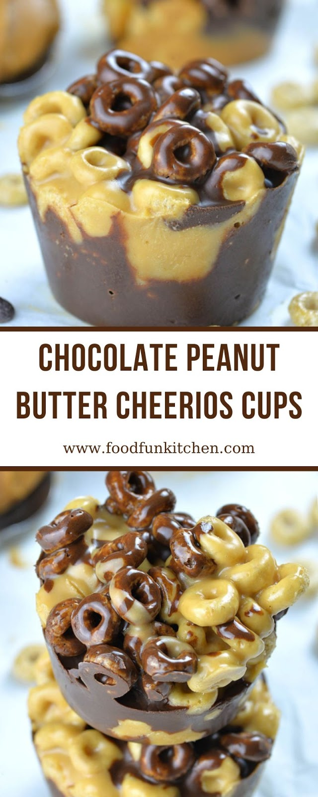 CHOCOLATE PEANUT BUTTER CHEERIOS CUPS