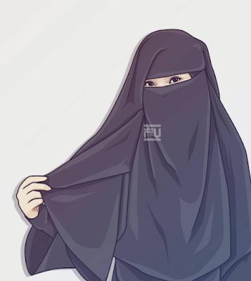 1001 Gambar Kartun Muslimah Bercadar