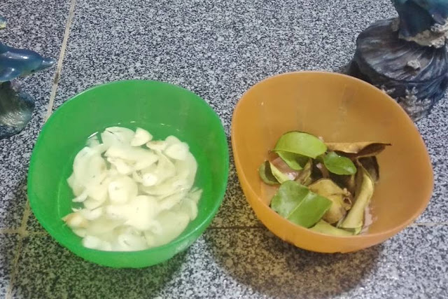 irisan bawang putih