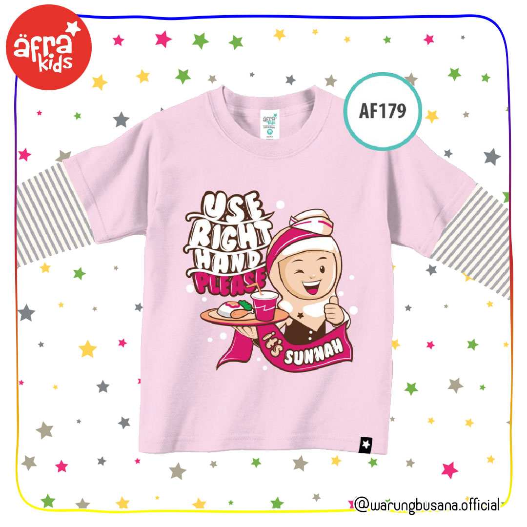 Afrakids Kaos Anak AF179 Use Right Hand Please
