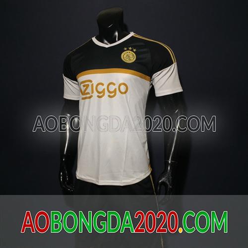 Mẫu Áo Ajax Trắng Đen Mùa Giải 2020 Training 2
