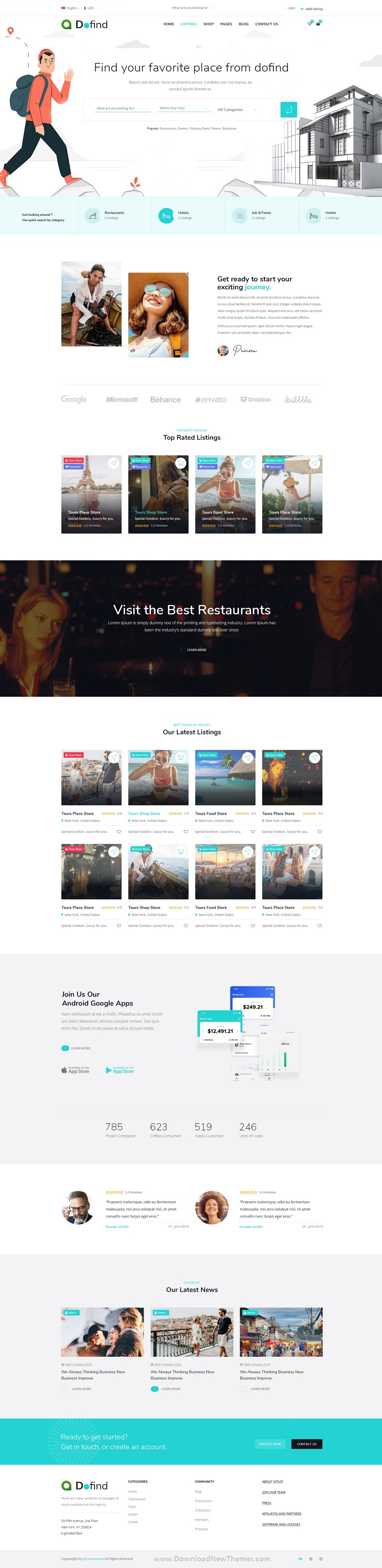 Multipurpose Directory Listing Website Template