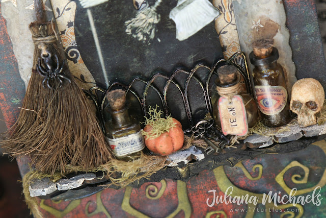 The Witching Hour Halloween Mixed Media Tag featuring Tim Holtz Halloween products