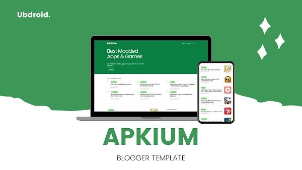Apkium - App Store / App Downloading Blogger Template