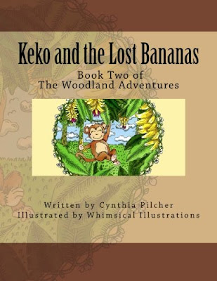 Learn about friendship and sharing with Keko and the Lost Bananas by Cynthia Pilcher... book two in The Woodland Adventures series.