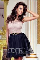 Rochie Adorable Black Pink • Rochie de ocazie