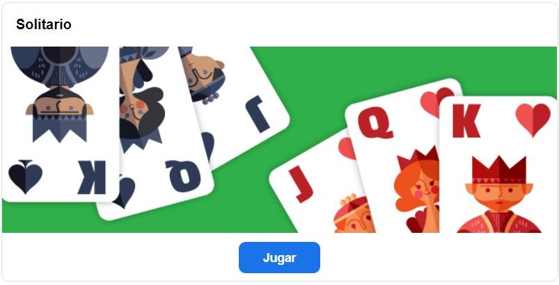 Juego Solitario en Google