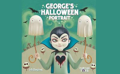 """George's Halloween Portrait"" Vinyl Bust by Tara McPherson x Martian Toys"