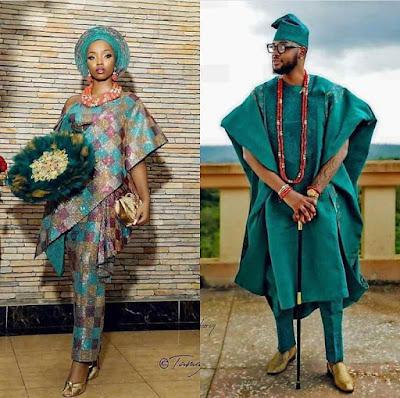 Latest Nigerian traditional wedding attire