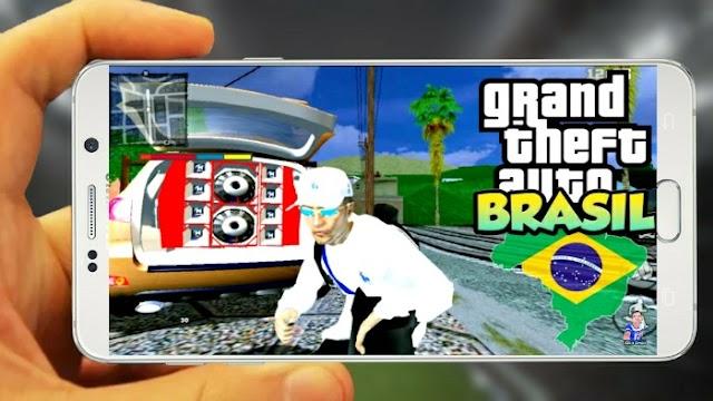 GTA BRASIL SUPER MODIFICADO COM GRÁFICOS EM HD GTA SA MODIFICADO PARA ANDROID