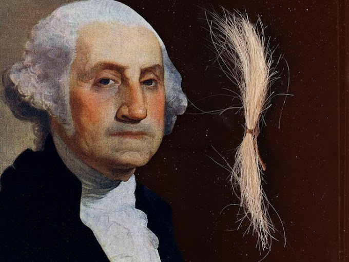 George Washington, the 1st President of the United States real-life hair goes up for sale at $50k