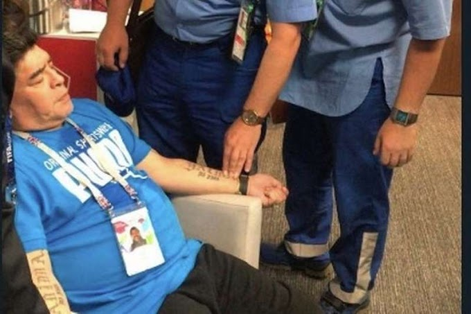 Diego Maradona 'treated by paramedics' after Argentina's World Cup victory over Nigeria