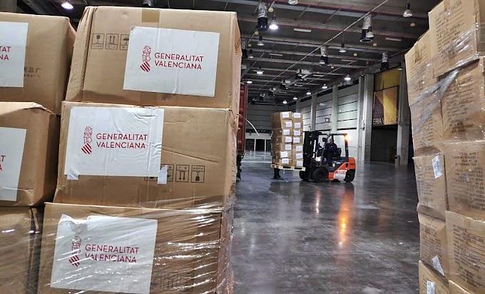 Llega a la Comunidad Valenciana el noveno avión con material sanitario