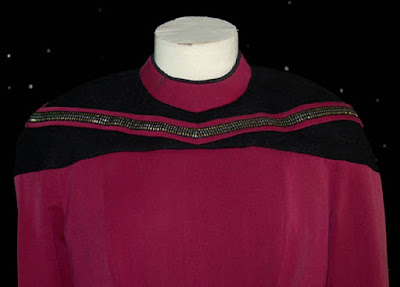 TNG season 2 admiral uniform - front panels