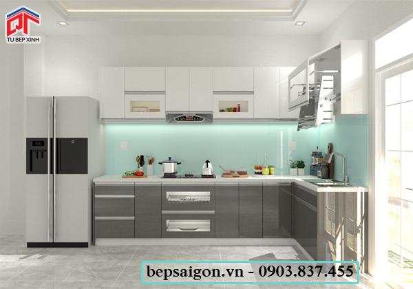 tủ bếp, tủ bếp acrylic, tủ bếp hiện đại