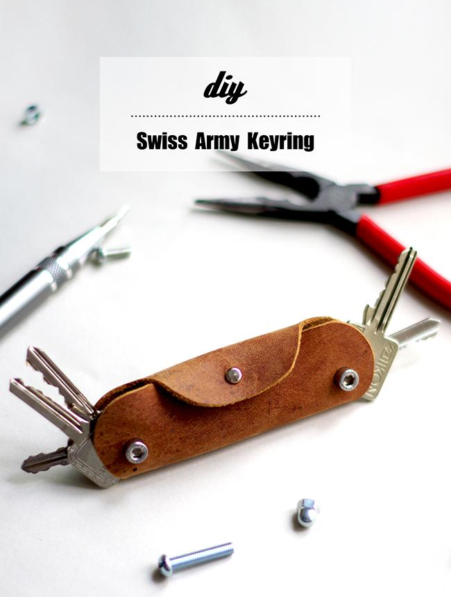 Diy Swiss Army Leather Keyring