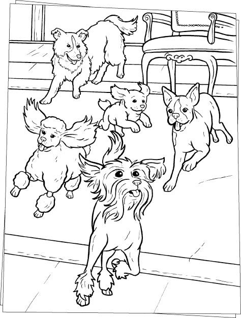 Dogs coloring pages 41