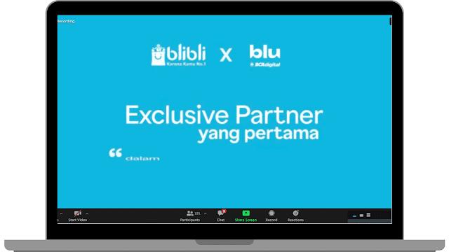 blibli eksklusif partner pertama blu