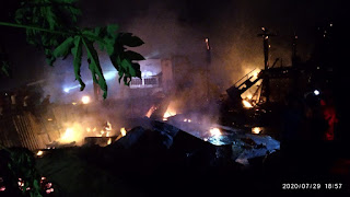 Kebakaran Di Palanro Menghanguskan Tiga Rumah dan Menyebabkan Ibu-Anak Tewas Terpanggang
