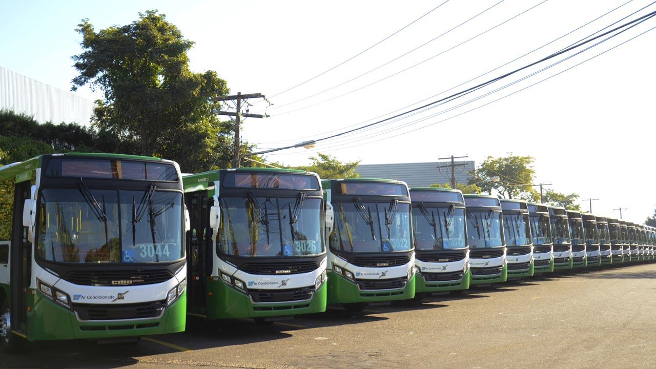 63 ônibus da Caio vão modernizar a frota de Cuiabá