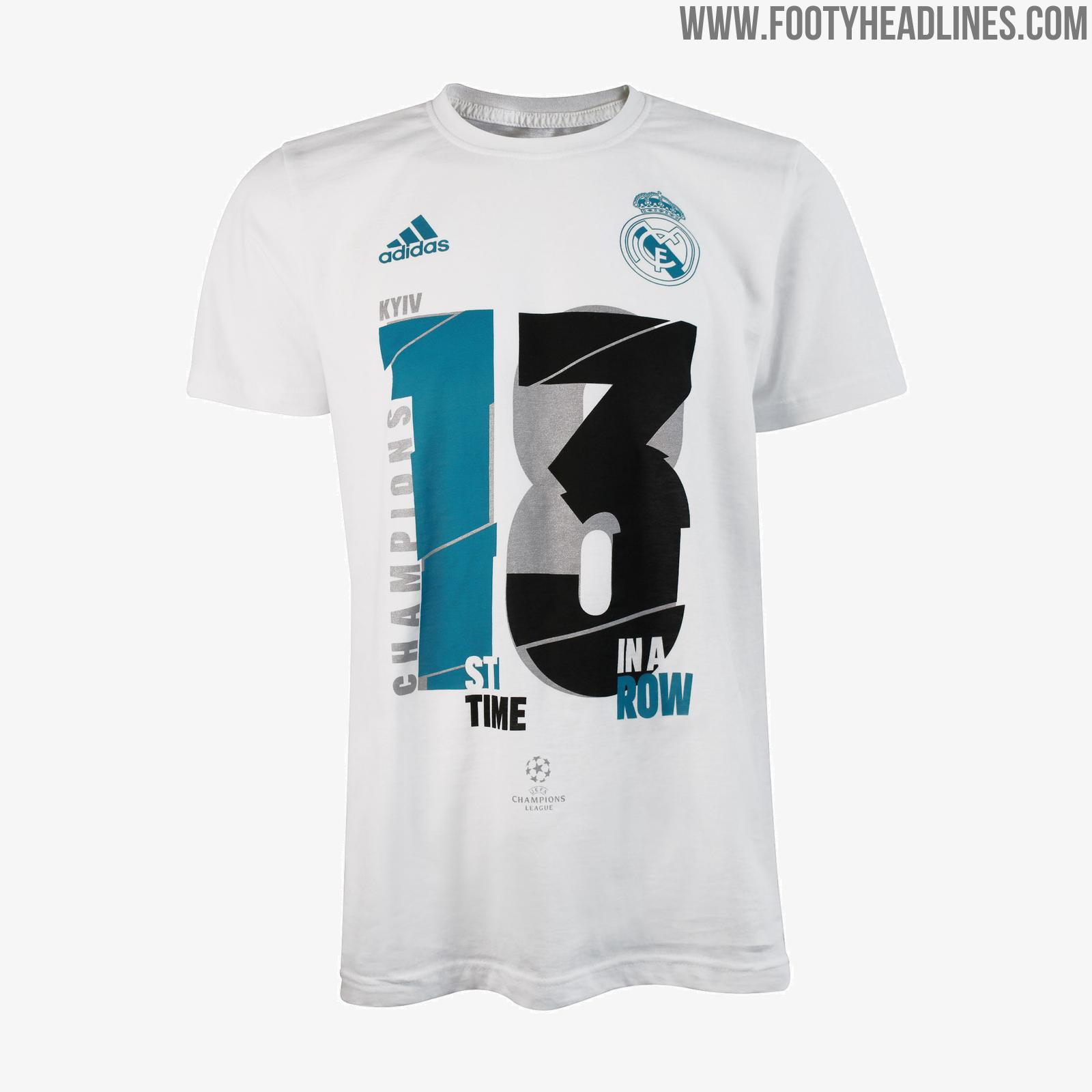 real madrid 2018 champions league winners tee collection released footy headlines. Black Bedroom Furniture Sets. Home Design Ideas