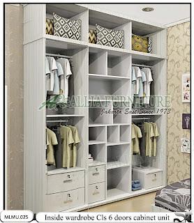 Dalam lemari minimalis full plafon cabinet unit Cls