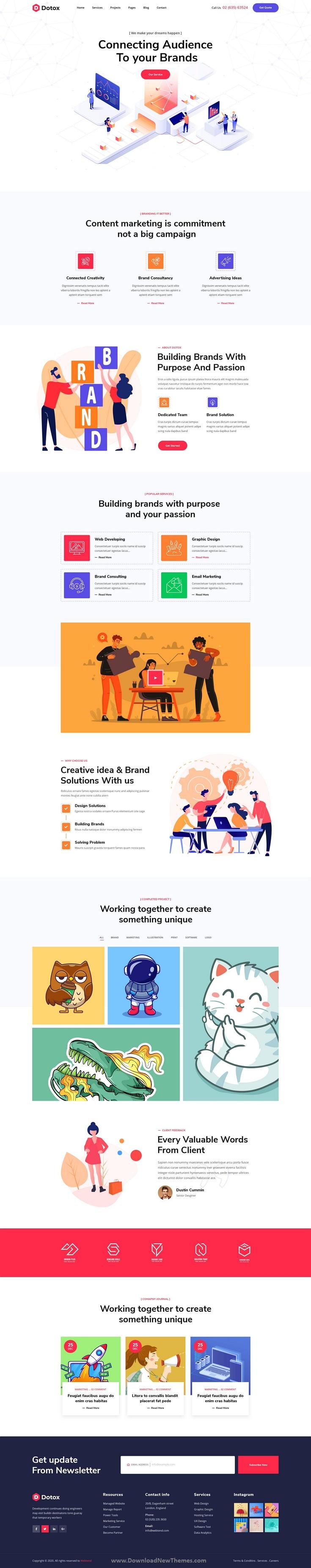 Creative Agency XD Template