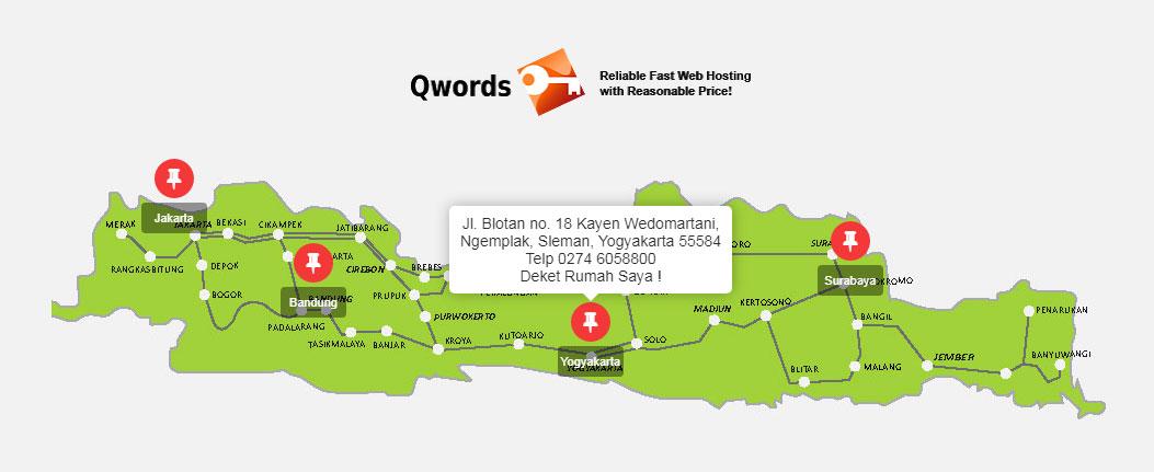 Peta Lokasi Qword