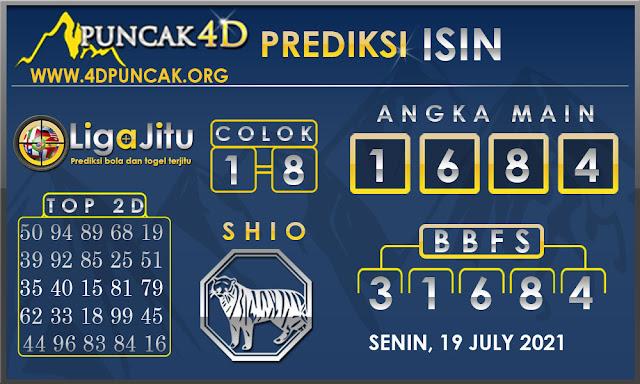 PREDIKSI TOGEL ISIN PUNCAK4D 19 JULY 2021