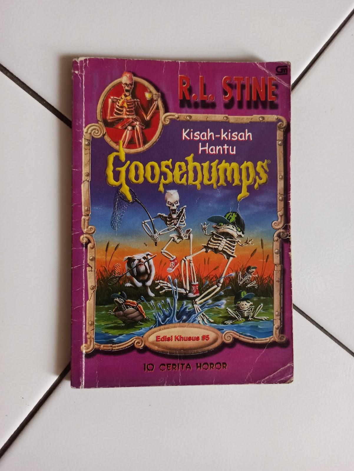 Novel Horor Goosebumps karya RL Stine