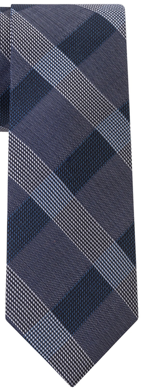 Calvin Klein Melange Cross Check Skinny Tie