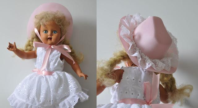 boneca Marta consertada com novo vestido