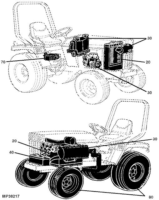 John Deere 420 Engine Diagram