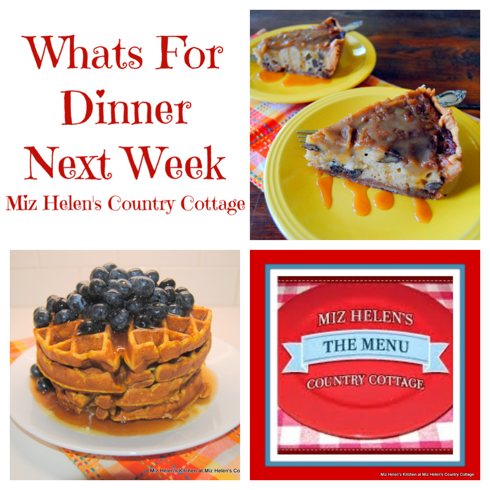 Whats For Dinner Next Week * Week of 10-17-21