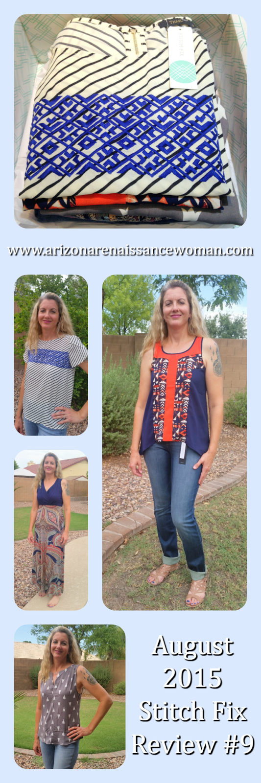 August 2015 Stitch Fix Review Collage