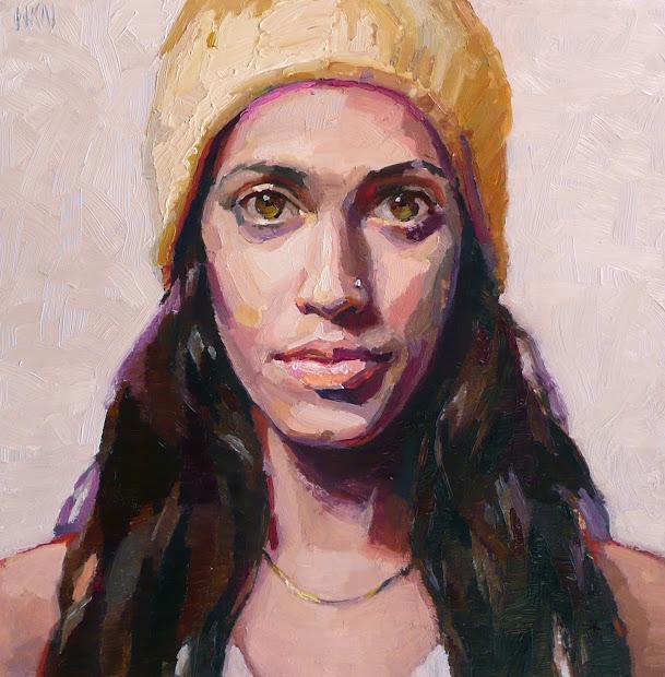 Watercolor Portrait Art Painting