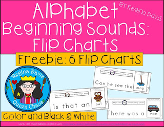 https://www.teacherspayteachers.com/Product/A-FREE-Alphabet-Flip-Charts-Beginning-Sounds26-Letters-Color-Black-White-3167326