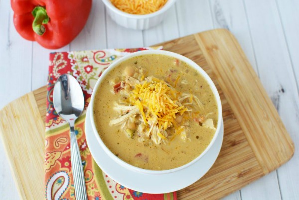Instant Pot Creamy Verde Chicken Chili Recipe from This Mama Loves