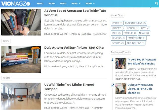 Viomagz Seo Booster Premium Blogger Templates 2020