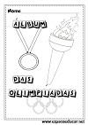 Álbum das Olimpíadas para ler, interpretar, recortar e colar as figurinhas! Atividade sobre as Olimpíadas!