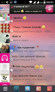 Download BBM Mod Themes Pink Apk