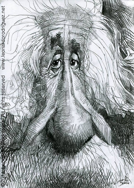 caricatures in spain Albert einstein