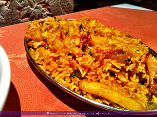 Vegetable Rice, Raj of India, Collier Row Review at The Purple Pumpkin Blog