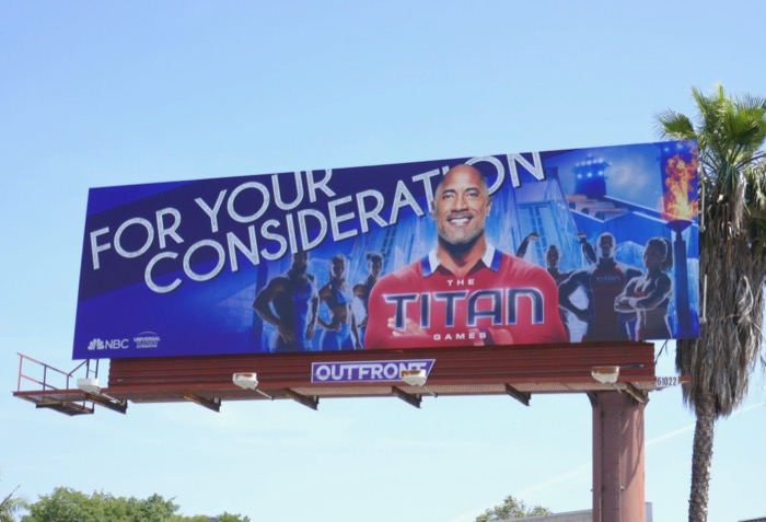 Titan Games season 1 Emmy FYC billboard