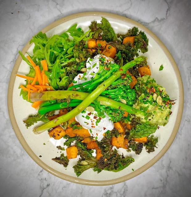 flatlay of plate of vegan hash from KIN London