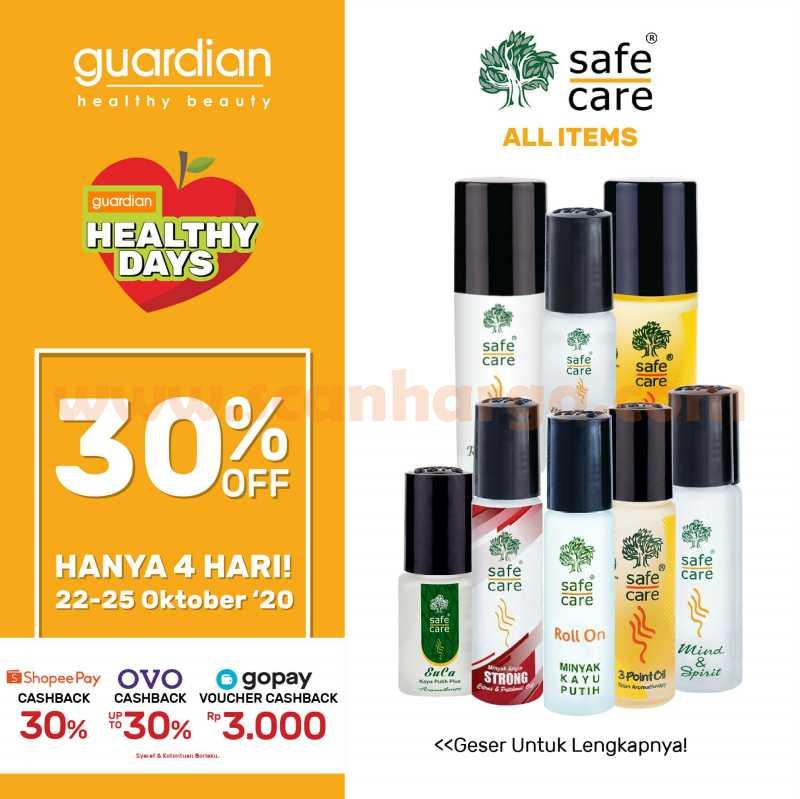 Guardian Promo Super Weekend Deals - Semua Produk Safe Care Diskon hingga 30%